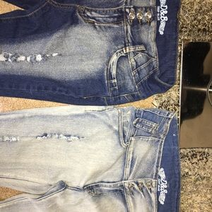 2 pairs of jeans same kind different style size 15